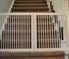 white diy baby gates for stairs