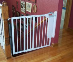 white metal baby gates for stairs with no walls