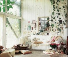 white theme for bohemian interior design ideas