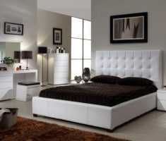 white tufted headboard bedroom set