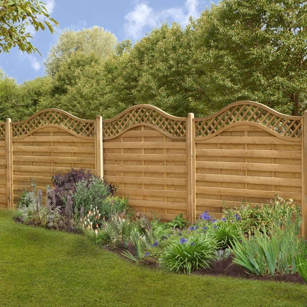 wonderful-cheap-fence-panels-with-carving-edge-top-design
