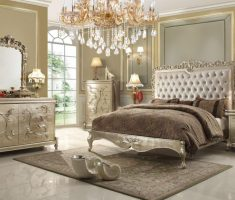 wonderful tufted headboard bedroom set chrome theme colors with diamond chandeliers
