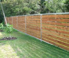 wood cheap fence panels with metal edge frame