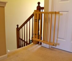 wooden baby gates for stairs with no walls
