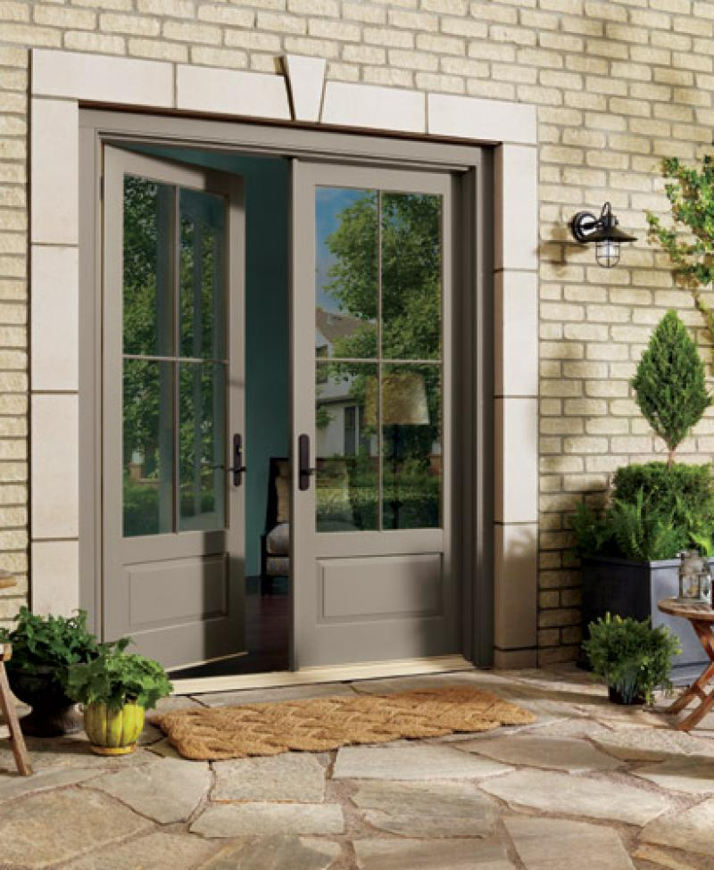 French doors exterior simple yet stunning ideas for Small exterior french doors