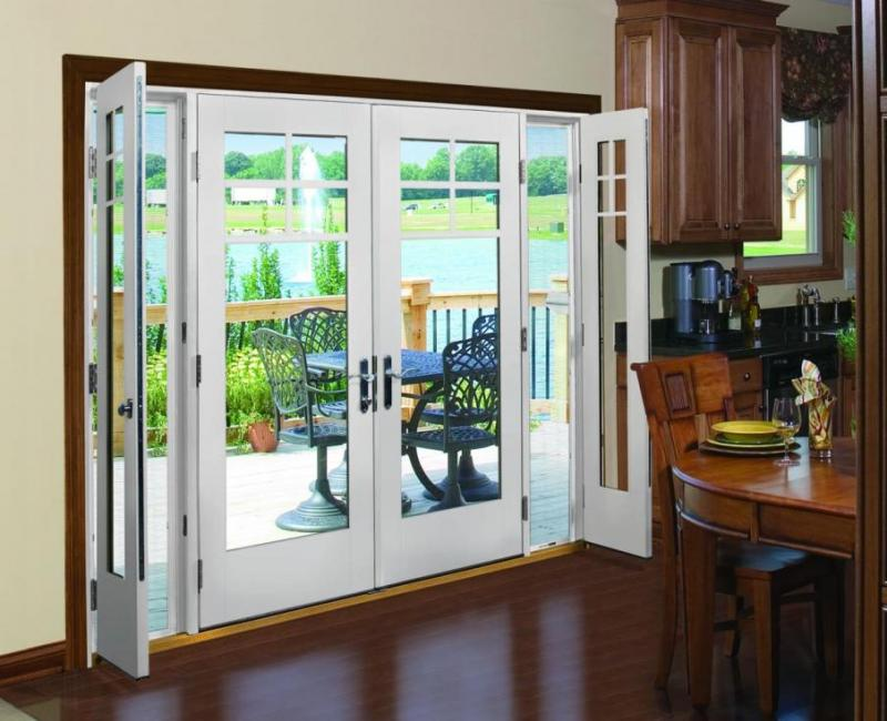 Beautiful French Doors with Screen Interior