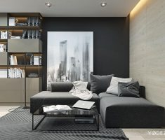 Black and White Apartment Living Room