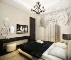 Black and White Master Bedroom Apartment