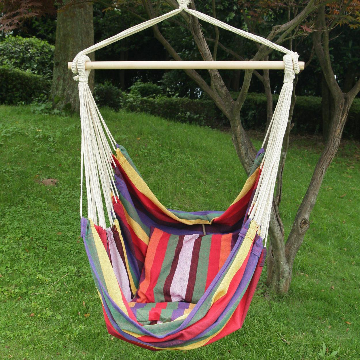 cheerful-and-colorful-outdoor-hanging-ceiling-chair-with-fabric-materials