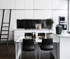 Cool Black and White Apartment KItchen DEsign