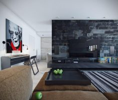 Cool Black and White Apartment Studio
