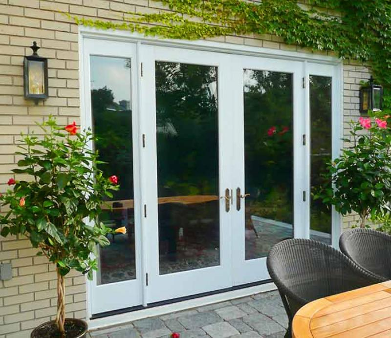 Exterior french doors with mini blinds two door models trans.