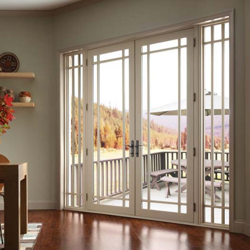 French Doors Exterior with Screen
