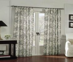 Lowes French Doors with Curtain