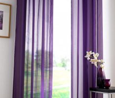 Minimalist elegant and thin Purple Curtains for Decorating