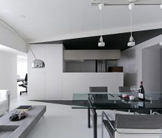 Modern Black and White Apartment Studio