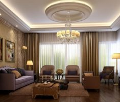 Modern Brown theme of classic luxury living rooms design ideas