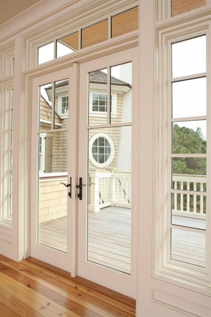 Modern french doors exterior white colors for Glass french doors exterior