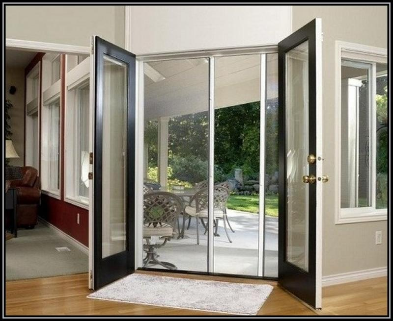 Modern french doors exterior with sliiding door home for Modern french doors exterior
