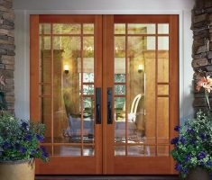 Modern Wooden French Doors Exterior Design