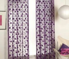 Polkadot Purple Curtains for Decorating
