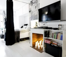 Small Black and White Apartment Studio Interior