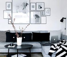 Small Black and White Apartment livngroom
