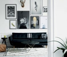 Small Livng Rooms Black and White Apartment