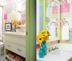 Stylish and fashionable Bathroom Wallpaper Ideas for kids with colorful design