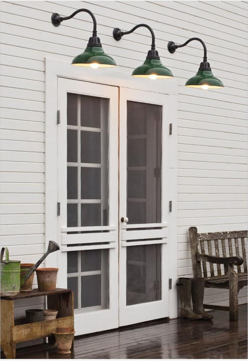 White French Doors Exterior with Screen