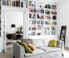 adorable college apartment decorating ideas with creative bookshelv wall design ideas