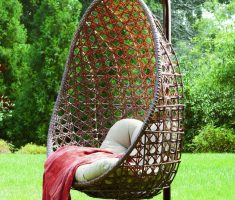 adorable rattan outdoor hanging ceiling chair for beauty backyard decor