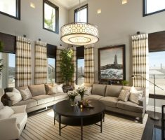 alluring Luxury Living Rooms with round chandeliers