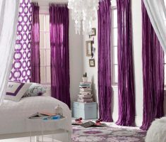 alluring Purple Curtains for modern Decorating purple and white theme room