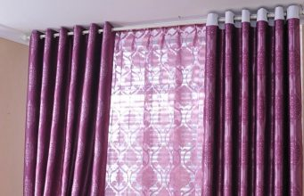 alluring two parts Purple Curtains for Decorating ideas
