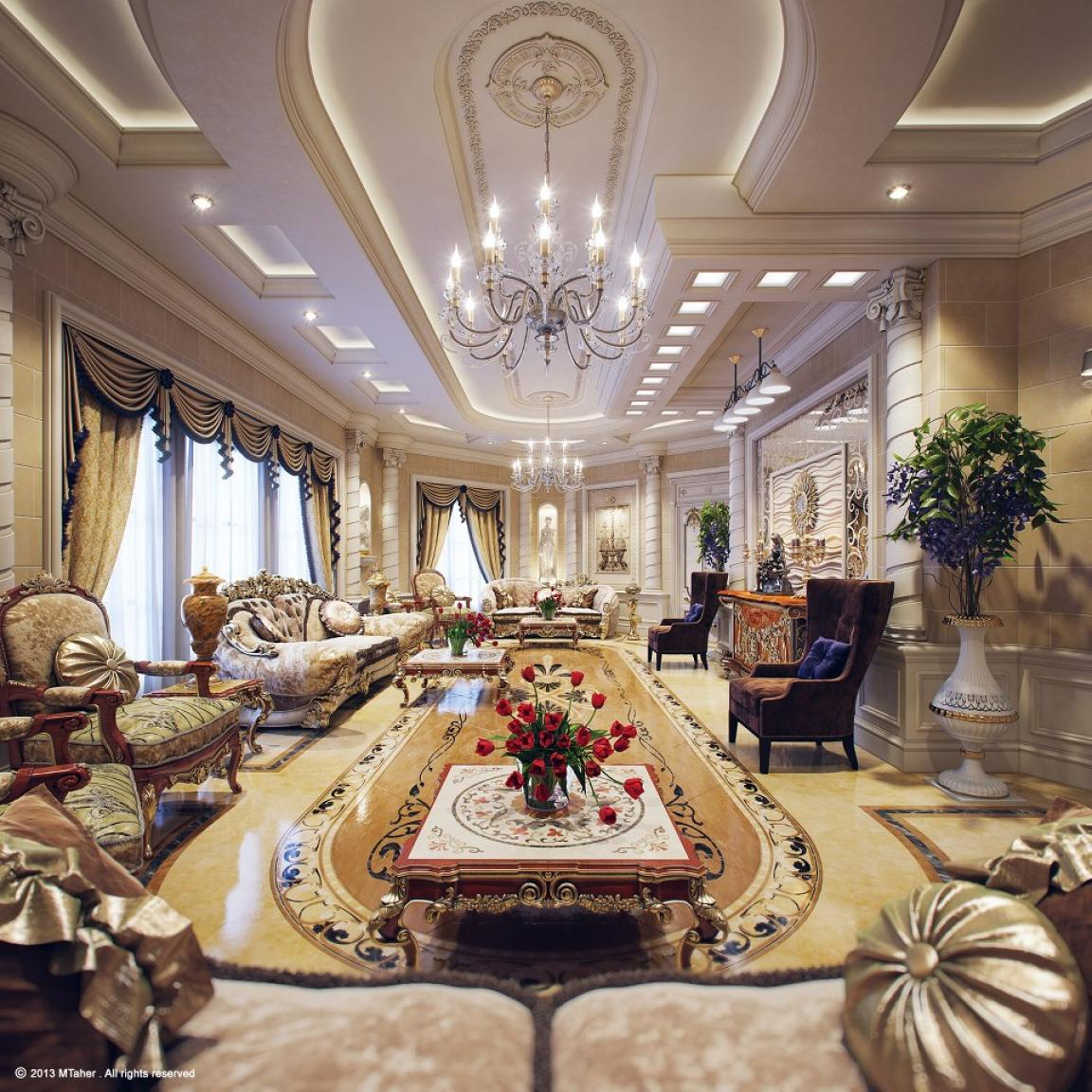 Luxury Mansion Living Room Designer: Amazing Luxurious Traditional Luxury Living Rooms Design