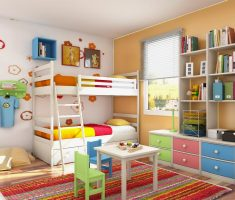 beauty colors theme for interior design bedroom for boys and girls