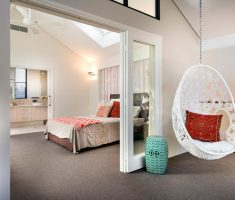 charming white hanging ceiling egg chair for comfy experience