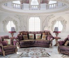classic luxury living rooms design ideas with purple classic sofa and white living rooms colors theme
