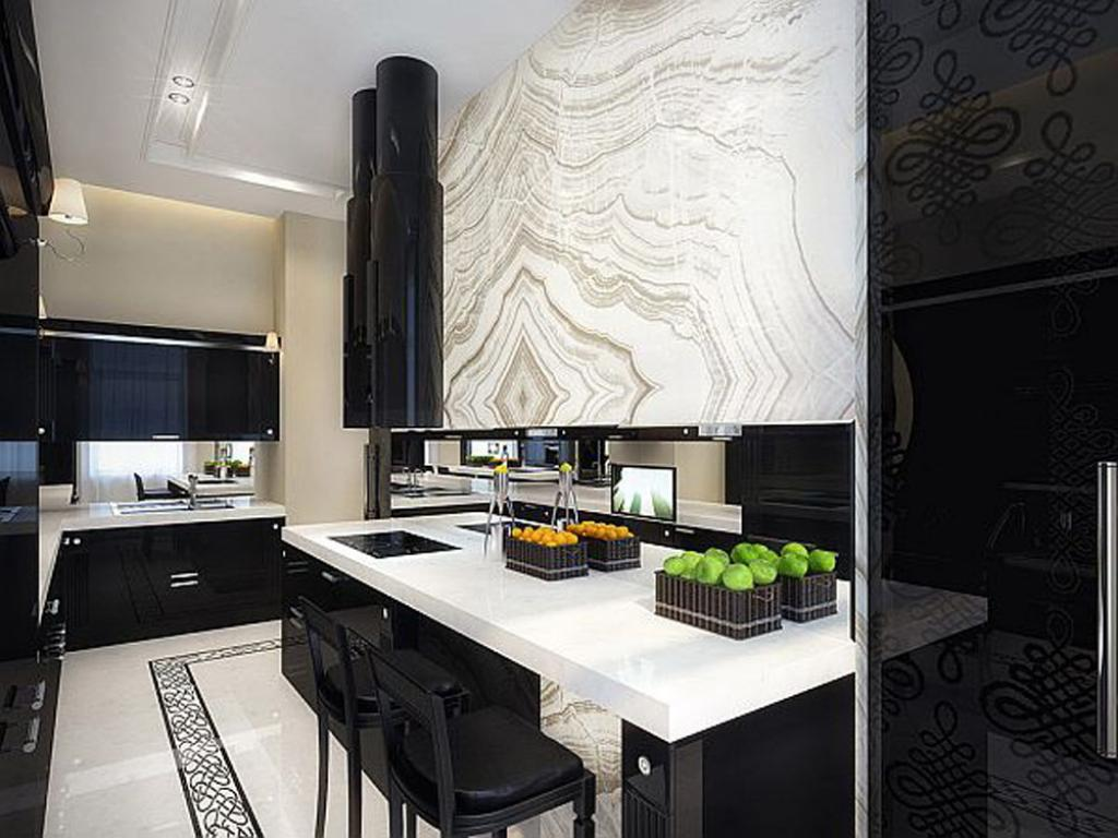 cool black and white apartment interior design | home inspiring