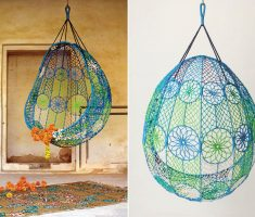 creative diy ceiling hanging chair with webbing
