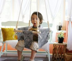 creative and simple diy ceiling hanging chair for childs