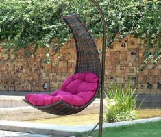 creative curve outdoor hanging ceiling chair ideas