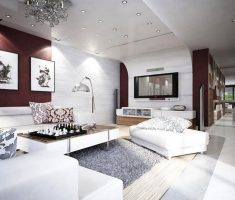 elegant apartment decorating ideas white and brown colors scheme