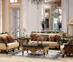 elegant traditional luxury living rooms with black ivory and gold colors theme