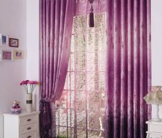 enchanting Purple Curtains for Decorating