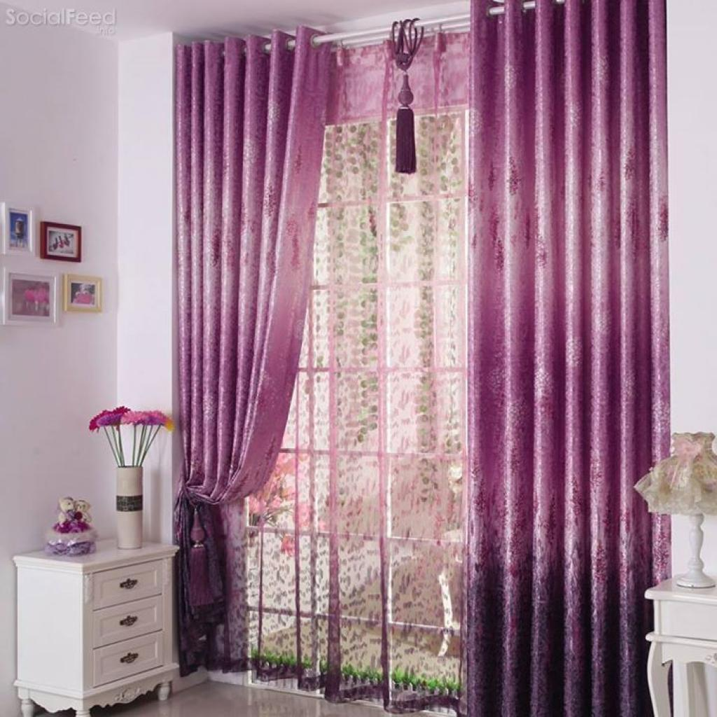 Purple And Blue Curtains