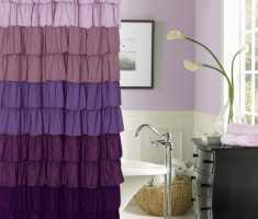 enchanting Purple Curtains for bathroom Decorating