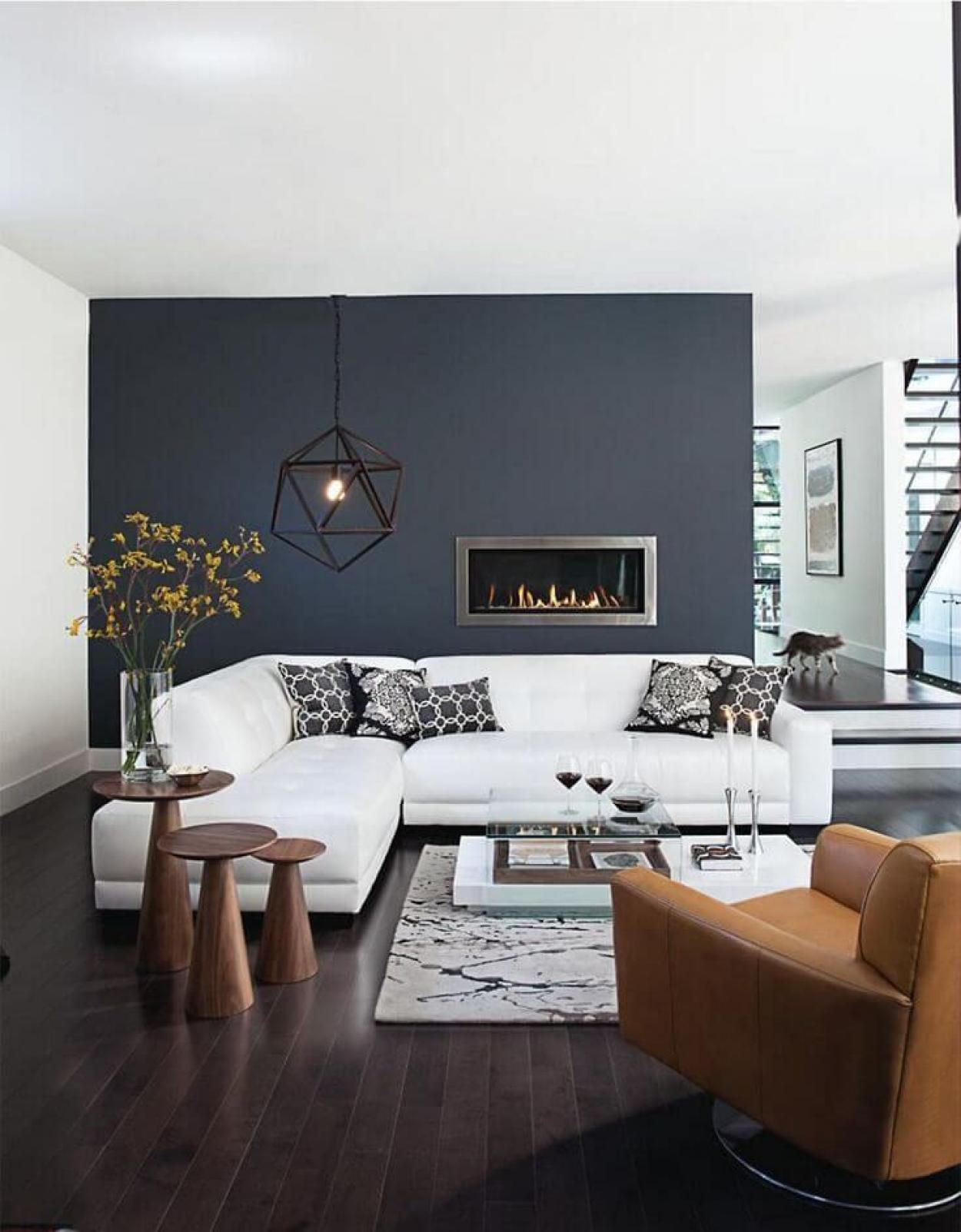 fantastic-apartment-decor-with-dark-grey-wall-with-white-chusion