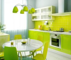 green and lime green kitchen and dining colors theme interior design ideas